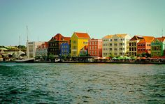 Colorful Willemstad Curacao Print By Mountain Dreams