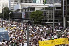 Milhares protestam no Brasil contra ameaça de golpe comunista e fraude eleitoral | #AluizioAmorim, #Comunismo, #DilmaRousseff, #ForoDeSãoPaulo, #FraudeEleitoral, #Lula, #Manifestações, #PátriaGrande, #PT