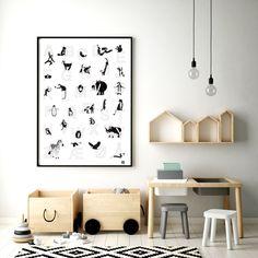 norsk Alfabetplakat med dyr 50 x 70 cm