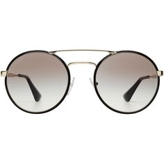 d1d099be61 Prada Round Sunglasses ( 205) ❤ liked on Polyvore featuring accessories