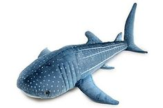 Whale #Shark cuddly #toy - super cute plush with beaded eyes.