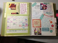smashbook page- I love this idea of one month at a time.