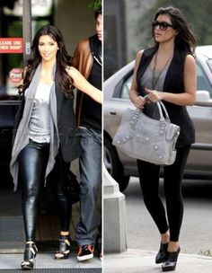 kim kardashian mens blazer vest scarf tights