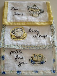 Sweet Tea Towels | made a mini tea towel set | By: seesuestitch | Flickr - Photo Sharing!