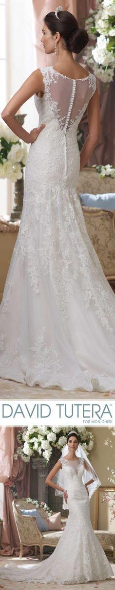 fbd4580fb687 Wedding dresses mermaid davids bridal illusion neckline 16+ trendy ideas   wedding