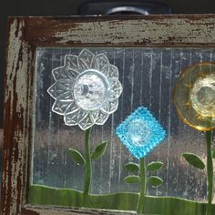 Stained Glass Mosaic Repurpose Wooden Window by ARTfulSalvage, $325.00
