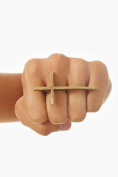 Cross Two-Finger Ring