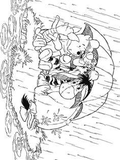 coloring page Autumn - Winnie the Pooh