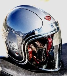 Ruby helmets of France. Cool Motorcycle Helmets, Cool Motorcycles, Vintage Motorcycles, Motorcycle Accessories, Women Motorcycle, Chopper Helmets, Motocross, Custom Helmets, Custom Bikes