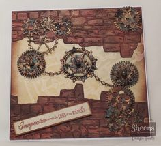 Get with the new Time Traveller collection from Sheena Douglass, available from Steampunk Cards, Sheena Douglass, Crafters Companion, Cogs, Card Stock, Embellishments, Stencils, Vintage World Maps, Christmas Cards