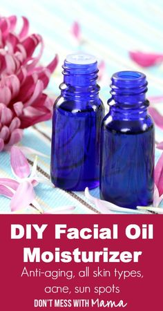 DIY Facial Oil Moisturizer with Sunscreen #DIY #Beauty - DontMesswithMama.com