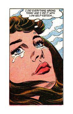 "Comic Girls Say.."" I did everything wrong today..."" #comic #vintage"