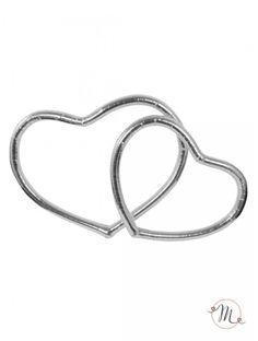Cuori auto argento. Confezione da 2 pezzi.  Misure: 37x29 cm, 30x25 cm. In #promozione #matrimonio #weddingday #targa #sconti #offerta #auto #wedding #accessoriauto #justmarried #oggisposi