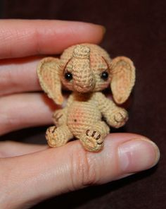"Image detail for -SOLD] Tiny Circus Elephant ""Bobo"" Thread Miniature / Teddy Bears ..."