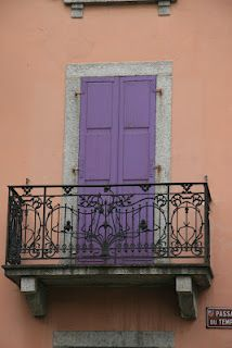 love the shutters and balcony