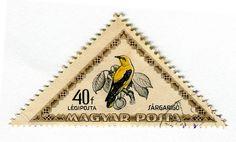 vintage bird stamp