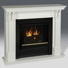 Real Flame Ashley Indoor Gel Fireplace   48W X 42H X 13.75D Inches  OverallWhite