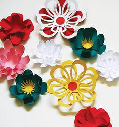 paper flowers. could be a fun pattern...