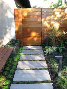 modern garden fence design ideas that can be choose for your home page 2 Modern Landscape Design, Modern Landscaping, Contemporary Landscape, Inexpensive Landscaping, Modern Design, Contemporary Architecture, Desert Landscape, Modern Backyard, Residential Architecture