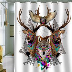 Kris Tate Forest Friends Shower Curtain