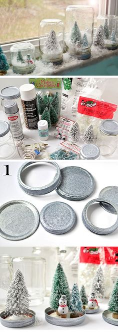 Waterless Snow Globes | Click for 25 DIY White Christmas Decorations Ideas | White Christmas Decorating Ideas for the Home