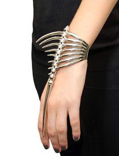 mmmmugler spike skeleton bracelet