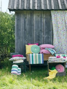 Love the flowered fabric? It's inspired by a dress worn by the designer's daughter! BARBRO summer textiles from IKEA!
