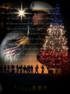 With gratitude to our brave military,  who ensure our freedom to celebrate.   Merry Christmas!