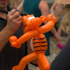 https://flic.kr/p/KhyKcE | Tiger Balloon | Custom made to order balloon art for the kids ....  What made this stand out from the rest was  1) great design, creative assembly 2) Use of Magic Marker to add personality and character to the creations.