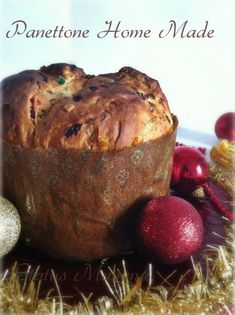 Classic home made Christmas panettone Christmas panettone with . - Classic home made Christmas panettone Christmas panettone with home made beer yeast - Croissants, Sweet Corner, Baking Stone, Sicilian Recipes, Italian Desserts, Homemade Cakes, Holiday Baking, Cakes And More, Bread Baking