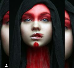 """headlesssamurai: """" """"There were powerful images in the colors of her eyes. Shapes, like symbols and talismans of long dead gods, knowledge and energies both ancient and forgotten. Creative Portraits, Creative Photography, Fine Art Photography, Portrait Photography, Makeup Inspo, Makeup Inspiration, Tribal Makeup, Extreme Makeup, Foto Fashion"""