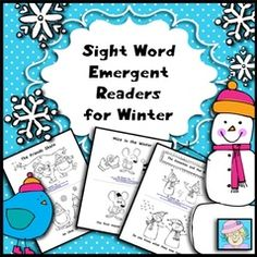 Winter-Themed Reading Fun for PreK-1st!! Enter for your chance to win 1 of 3. Sight Word Emergent Readers for Winter  (40 pages) from TeacherTam on TeachersNotebook.com (Ends on on 12-28-2015) Your students will enjoy these engaging little books! This set of 5 sight word readers is perfect for whole group or small group reading instruction. Two versions of each book are included for differentiation, FOR A TOTAL OF 10 BOOKS! These books cover more than 40 Dolch sight words and contain…