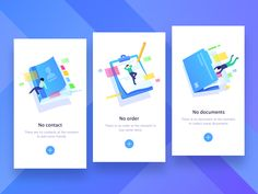 Empty page state empty blue hiwow ui app document order contact no Interaktives Design, App Ui Design, Game Interface, Interface Design, Ui Design Mobile, Empty State, Splash Screen, Mobile App Ui, Ui Design Inspiration