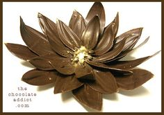 Chocolate Flower Cake Decoration Tutorial & Video. Make a flower to devour. These are my favorite! So pretty!