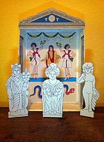 Make your own Roman Lararium Household Shrine - © Nash Ford Publishing