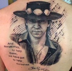 Hometown boy made good - way good! Stevie Ray Vaughn - Celebrites Tattoo by Matteo Pasqualin Back Of Shoulder Tattoo, Shoulder Tattoos, Stevie Ray Vaughan Guitar, Beauty And The Beast Tattoo, Tattoos Gallery, Jimi Hendrix, Tattoo Sketches, Music Artists, Canvas