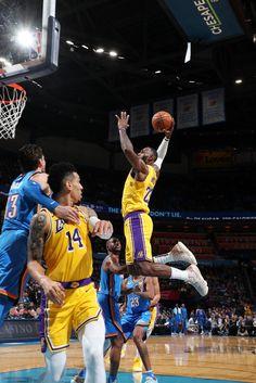 View photos for Photos: Lakers vs Thunder Basketball Is Life, Basketball Players, Lakers Vs Thunder, Lakers Wallpaper, Chesapeake Energy Arena, Lebron James Lakers, Basketball Highlights, Nba Season, Larry Bird
