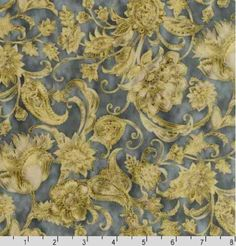 Robert Kaufman 'La Scala' Floral and Leafy Scrolls (Antique) on Cotton Fabric By the Yard Robert Kaufman Fabrics http://www.amazon.com/dp/B00C8P2QH0/ref=cm_sw_r_pi_dp_7OKVtb1HA0FKV3DF