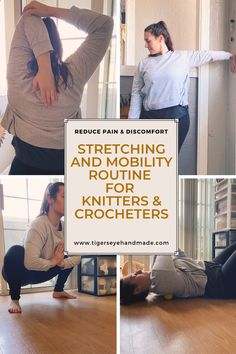Us knitters and crocheters sit for long hours working on our beloved projects. It's important that we incorporate self care into our routine! Read about techniques to help take care of your body. Take Care Of Your Body, Take Care Of Yourself, Stay Fit, Stretching, Knit Crochet, Routine, Long Hours, Knitting, Health
