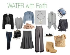 WATER with Earth by expressingyourtruth on Polyvore featuring polyvore moda style Organic by John Patrick Antonio Berardi YMC Ann Demeulemeester A Détacher Daytrip Hudson Jeans rag & bone Flora Bella Lafayette 148 New York Monica Vinader MANGO Surface To Air Calypso St. Barth fashion clothing feng shui