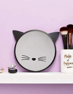 Sass & Belle – Schwarzer Spiegel mit Katzendesign