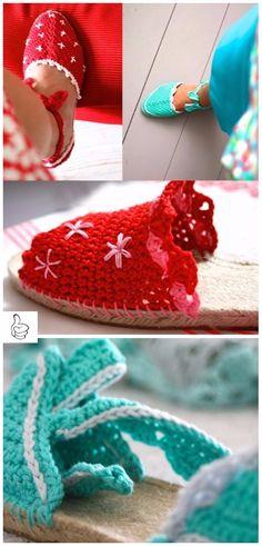 Crochet Women Slippers Shoe Patterns - Crochet Saskia's Espadrilles Slippers Free Pattern