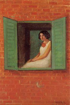 Donna alla finestra, 1931 by Pippo Rizzo (Italian 1897-1964)