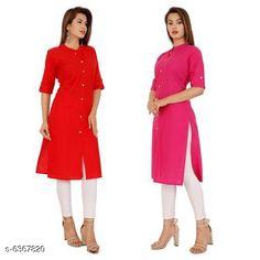 Kurtis & Kurtas Women's Solid Cotton Kurti Fabric: Pure Cotton Sleeve Length: Three-Quarter Sleeves Pattern: Solid Combo of: Combo of 2 Sizes: XL (Bust Size: 42 in Size Length: 42 in)  L (Bust Size: 40 in Size Length: 42 in)  M (Bust Size: 38 in Size Length: 42 in)  XXL (Bust Size: 44 in Size Length: 42 in) Country of Origin: India Sizes Available: M, L, XL, XXL   Catalog Rating: ★4.1 (467)  Catalog Name: Diya Attractive Women Kurtis CatalogID_1012429 C74-SC1001 Code: 234-6367820-5901