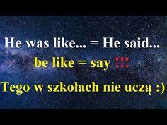'I was like' = 'I said', 'be like' = 'say', Tego nie nauczysz się w szkole! Ważny zwrot, angielski - YouTube George Lopez, Learn English, Dance, Sayings, Learning, Youtube, Learning English, Dancing, Lyrics