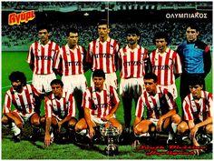 Equipos de fútbol: OLYMPIAKOS Vencedor de la Supercopa de Grecia 1987 Athlete, Football, History, Sports, Movies, Movie Posters, Passion, Red, Soccer