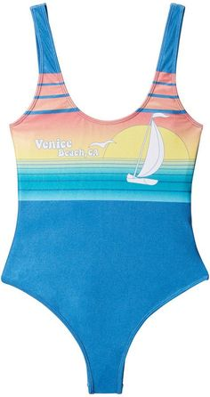 POPACTIVE Venice Swimsuit in Multi, X-Small