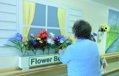 The Interactive Flower Mural in Action! See more at: www.creativeartco.com