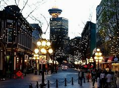 One of my favorite places. Vancouver Canada. Night life is so much fun here. People are so friendly:)