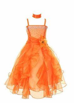 Amazon.com: Cinderella Couture Girls Cascading Crystal Organza Rhinestone Party Dress: Clothing
